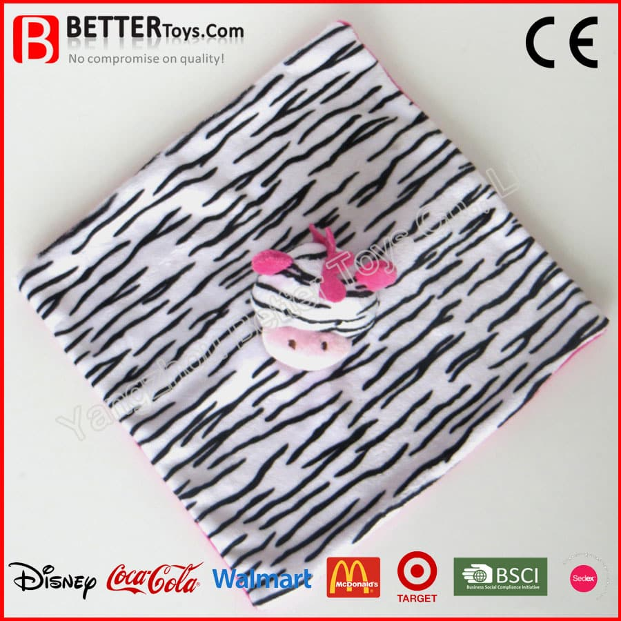 Plush Baby Comforter Zebra Yangzhou Better Toys Co Ltd