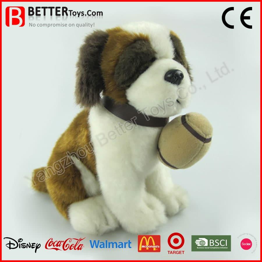 Plush Toy Stuffed Animal Soft Toy Saint Bernard Dog