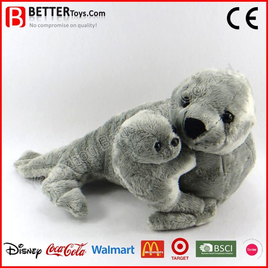 Stuffed Polar Bear Dog Toy