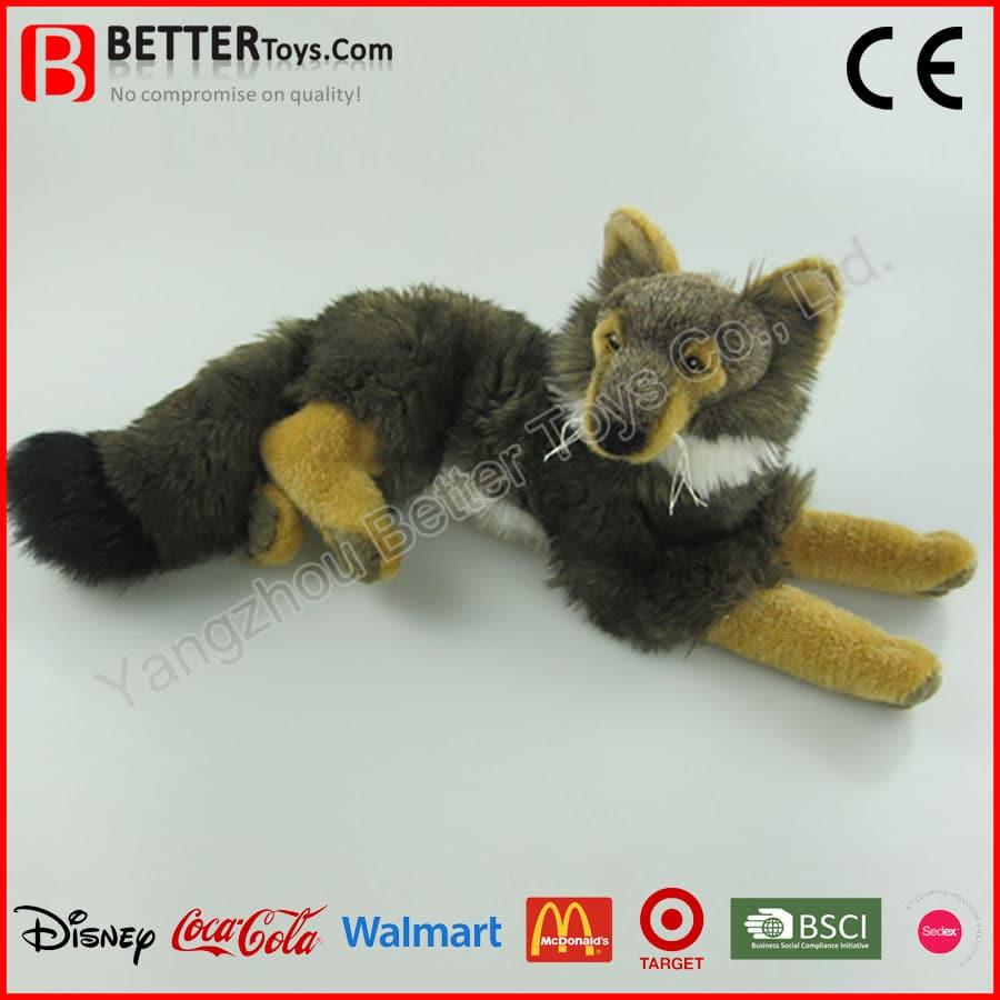 Realistic Soft Wolf Toy Yangzhou Better Toys Co Ltd