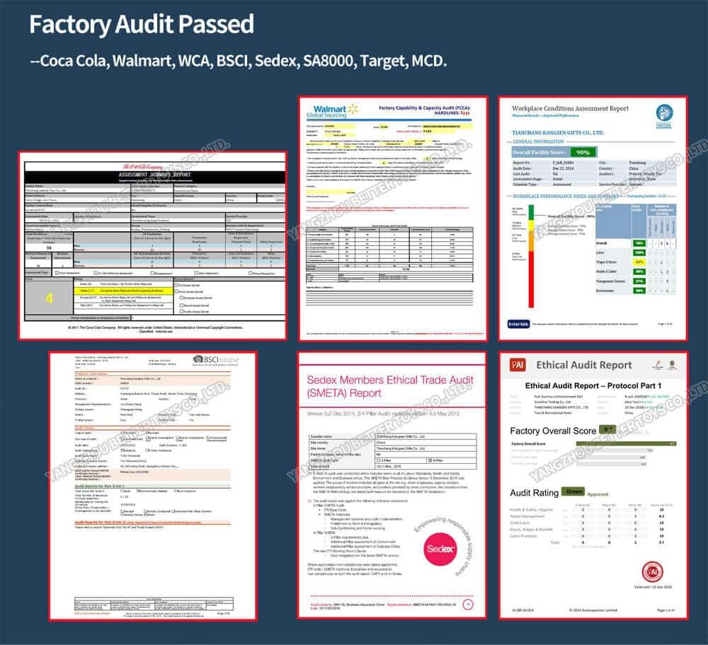 Plush toys factory audit