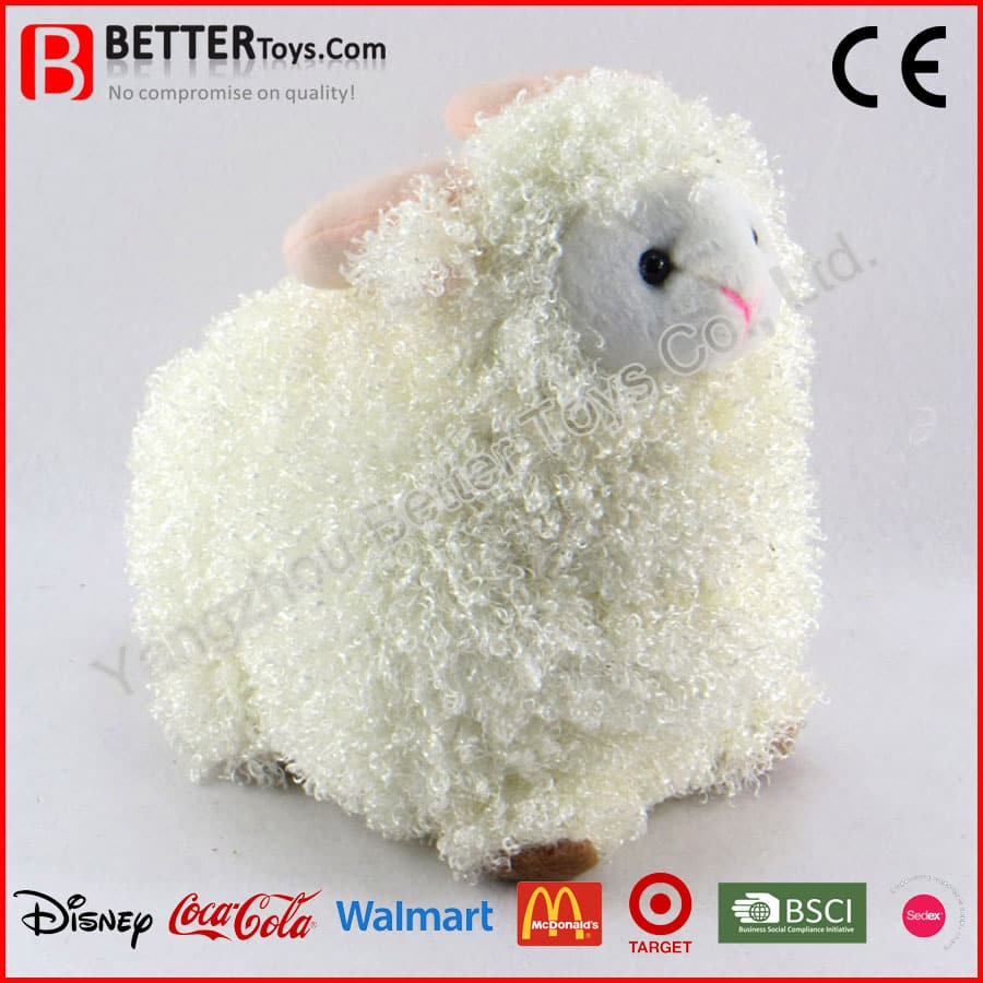 Plush Toy Stuffed Animal Cutie White Lamb For Baby
