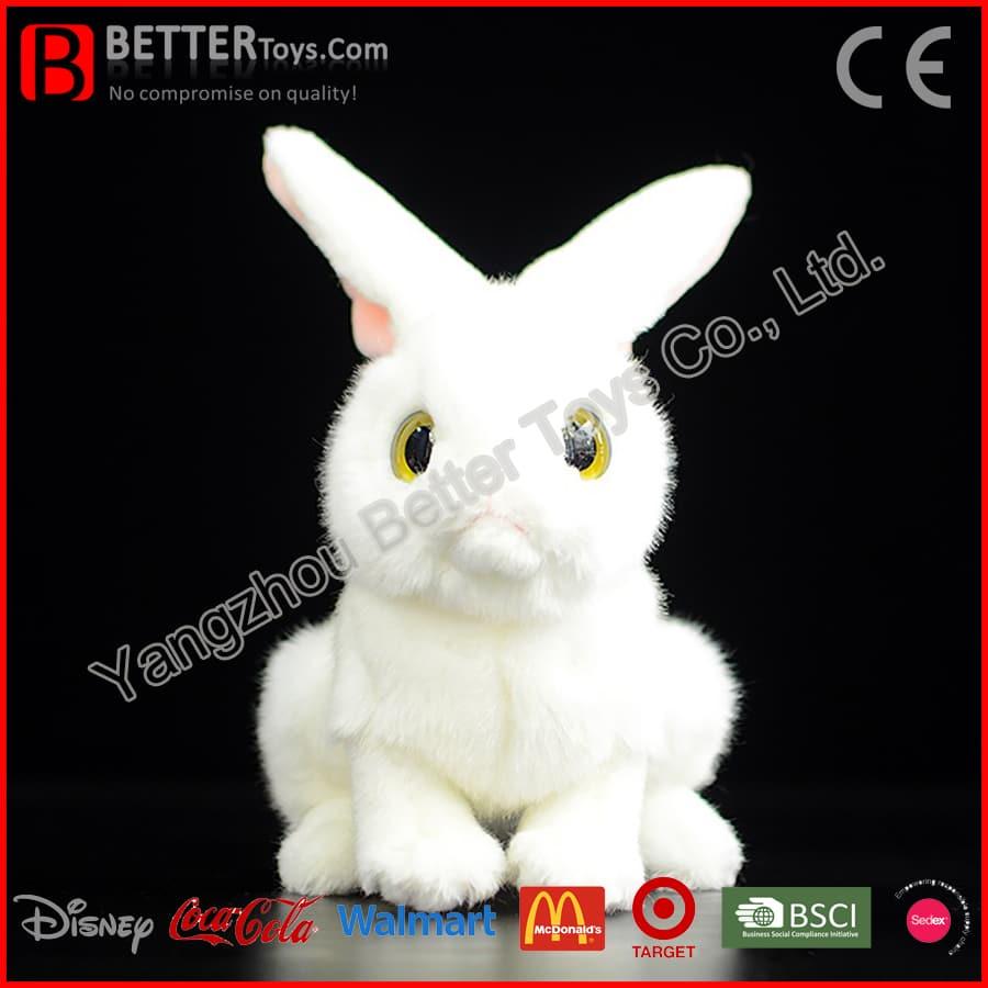 Lifelike Soft Bunny Stuffed Animal Realistic Plush Rabbit Toy
