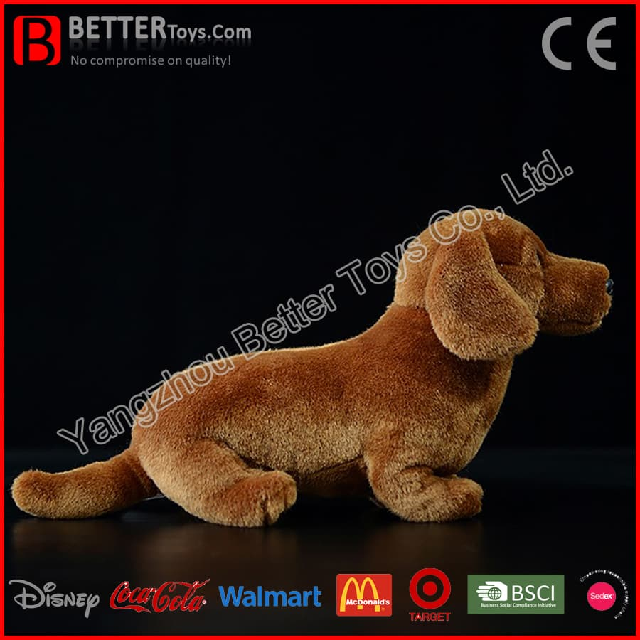 Stuffed Animal Soft Dog Plush Dachshund Toy for Children