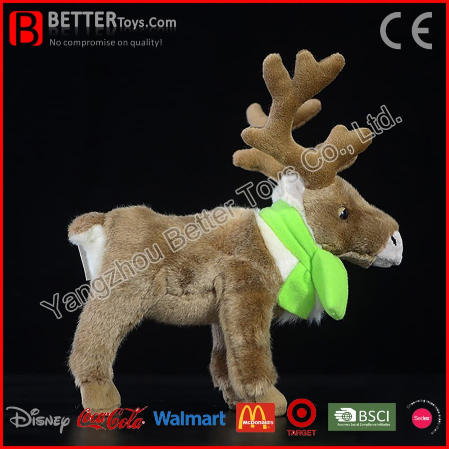 Christmas Gift Stuffed Caribou Soft Toy Plush Reindeer For