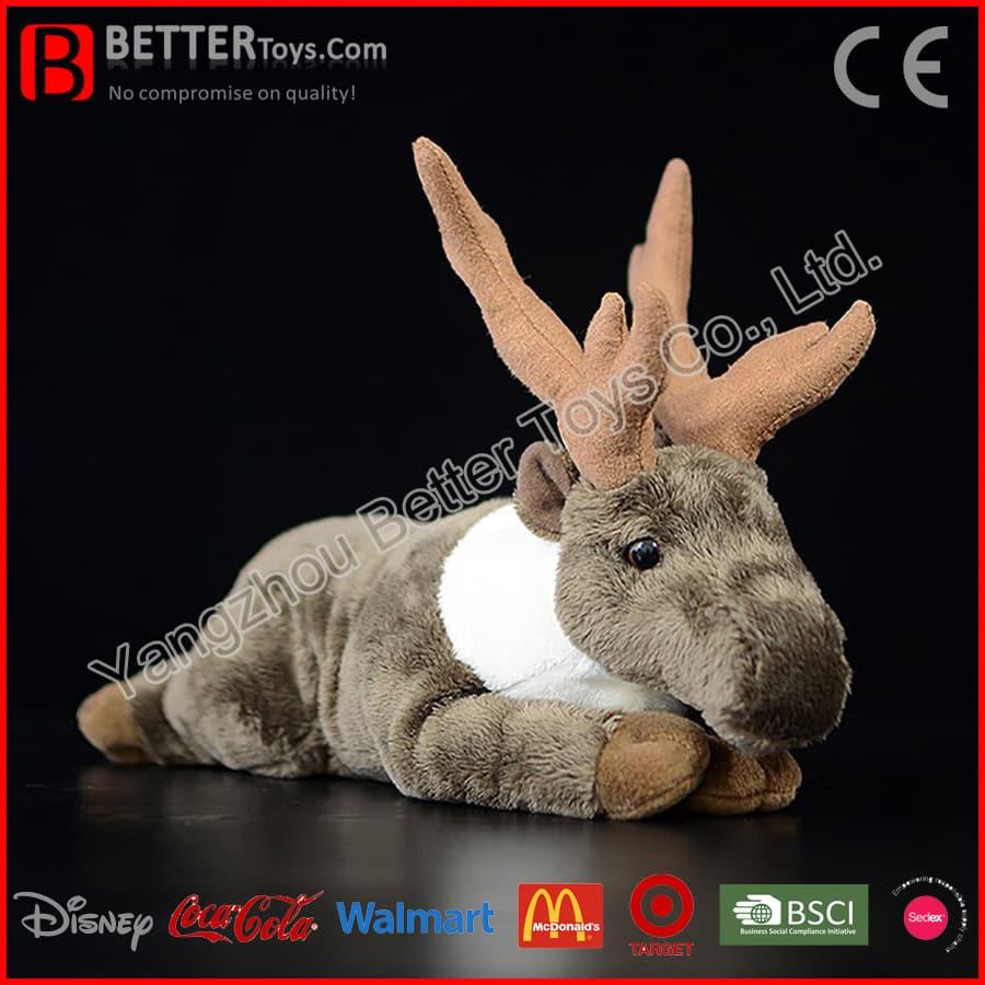 Chirstmas Plush Animal Stuffed Caribou Soft Toy Santa