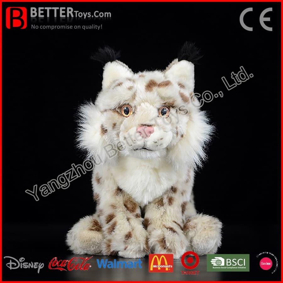 Realistic Stuffed Animal Eurasian Lynx Plush Lynx Soft Toy