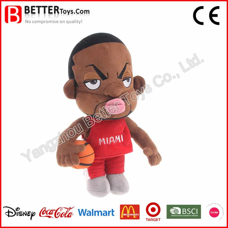 NBA player plush character