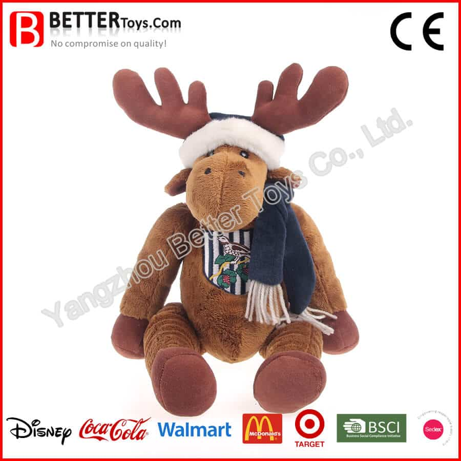 EN71 Christmas Toy Plush Reindeer