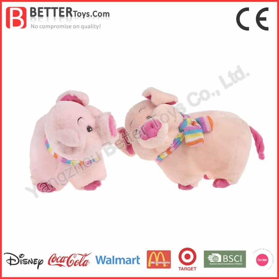 Cute plush pig